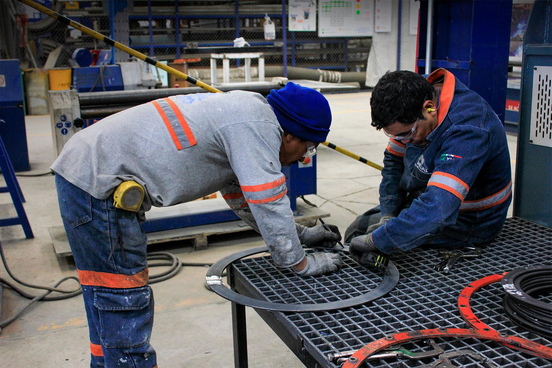 fabricación de lavadora de gases MCAT