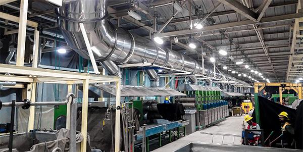 Scrubber instalado en planta productiva